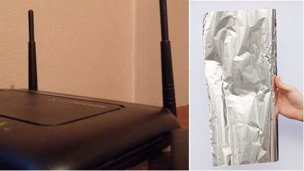 El truco para mejorar el rendimiento de tu enrutador wifi: utilizar papel de aluminio
