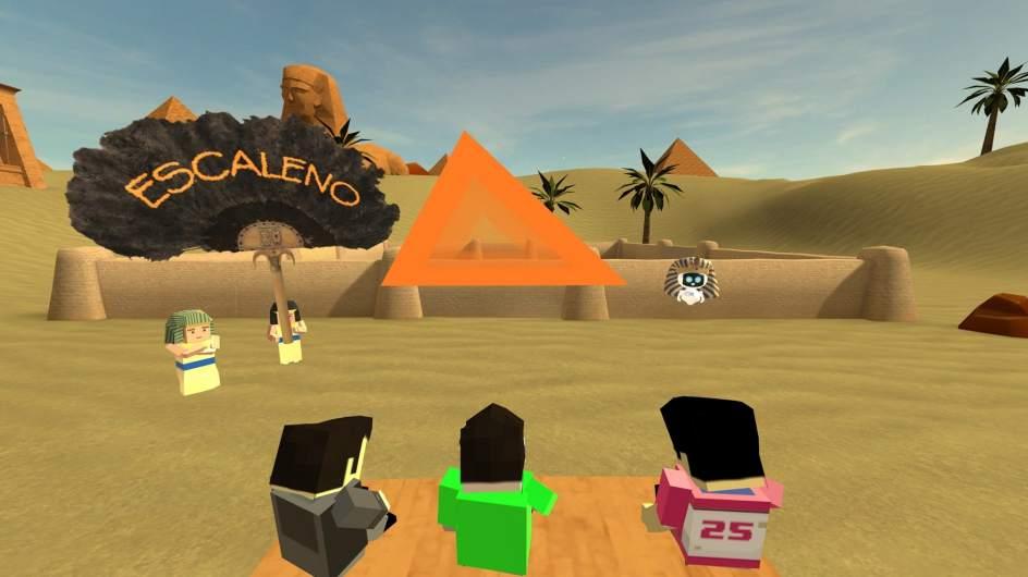 """Gafas de realidad virtual de PlayStation como herramienta educativa para aprender ciencia. """"Title ="""" Plataforma virtual STEM + VR """"width ="""" 656 """"height ="""" 368"""
